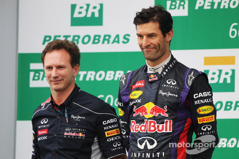 Christian Horner, Red Bull Racing Team Principal y Mark Webber, Red Bull