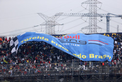 A giant banner for Red Bull Racing