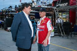 NASCAR President Mike Helton and Eddie Wood