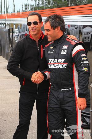 Juan Pablo Montoya and Helio Castroneves