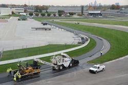Новое покрытие дорожного кольца в Индианаполисе, особое событие.