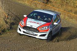 Elfyn Evans and Richard Millener test the Ford Fiesta R200