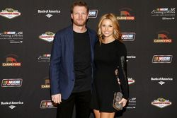 Dale Earnhardt Jr. and girlfriend Amy Reimann at the NASCAR Evening Series