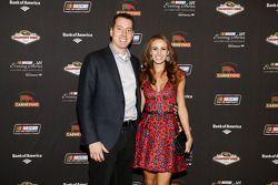 Kyle Busch and wife Samantha Busch at the NASCAR Evening Series