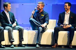 Kasey Kahne, Clint Bowyer and Jimmie Johnson at the After the Lap event