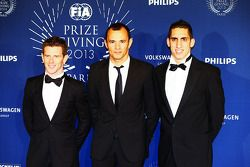 (L to R): Anthony Davidson, Stéphane Sarrazin, Sebastien Buemi, Toyota Racing