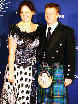 Allan McNish, with his wife Kelly McNish