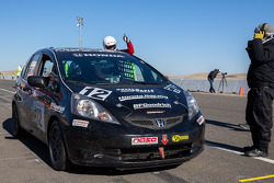 #12 HPD Race Club Honda Fit: Thomas Grosart, Aaron Hale, Brian Johnston, Robin Laqui, Tom Reichenbac