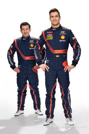 Марк Марти и Даниэль Сордо. Презентация Hyundai i20 WRC, особое событие.