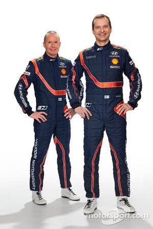 Томи Туоминен и Юхо Хяннинен. Презентация Hyundai i20 WRC, особое событие.
