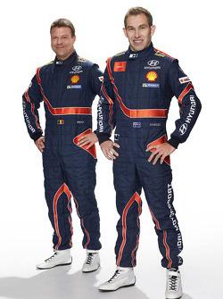 Стефан Прево и Крис Эткинсон. Презентация Hyundai i20 WRC, особое событие.