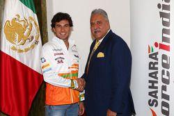 Sergio Perez ve Vijay Mallya