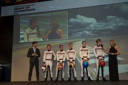 The 2014 Porsche LMP1 drivers are announced: Mark Webber, Romain Dumas, Neel Jani, Timo Bernhard, Ma