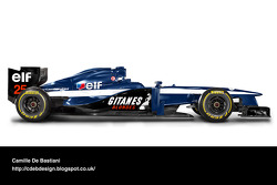 Formel-1-Auto im Retrodesign: Ligier 1991