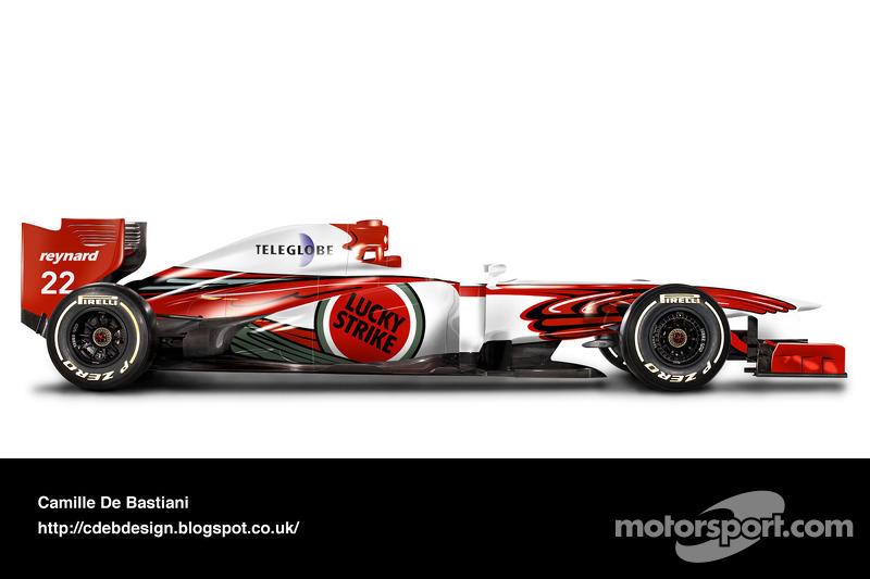 سيارة فورمولا واحد حديثة بألوان بار 1999
