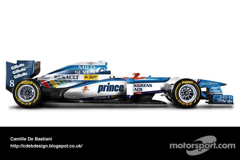 Carro de F1 retrô - Benetton 1997