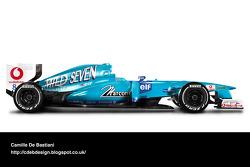 Formel-1-Auto im Retrodesign: Benetton 2001
