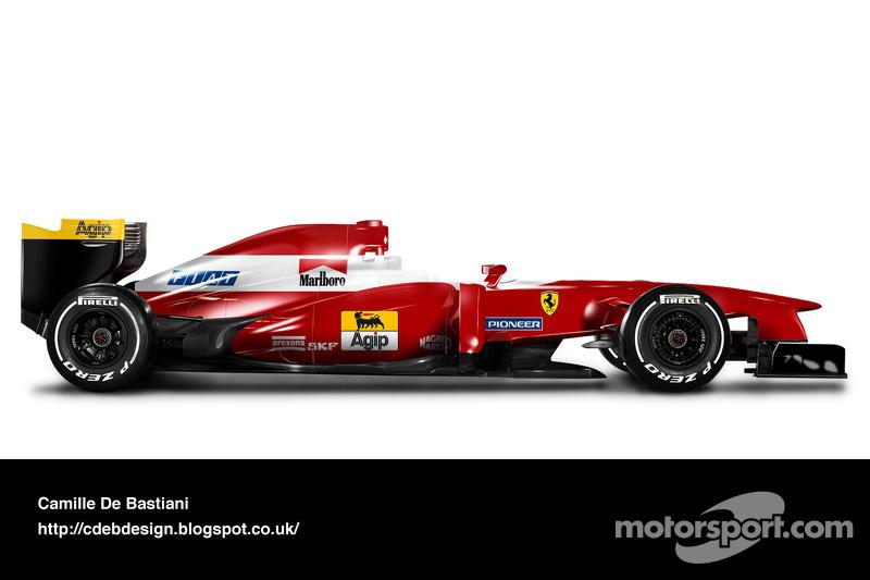 Carro de F1 retrô - Ferrari 1993