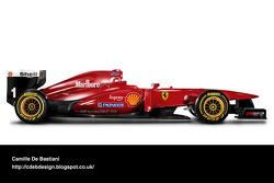 Formel-1-Auto im Retrodesign: Ferrari 1996