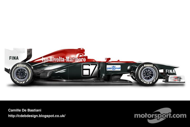 Formel-1-Auto im Retrodesign: Iso-Marlboro 1973