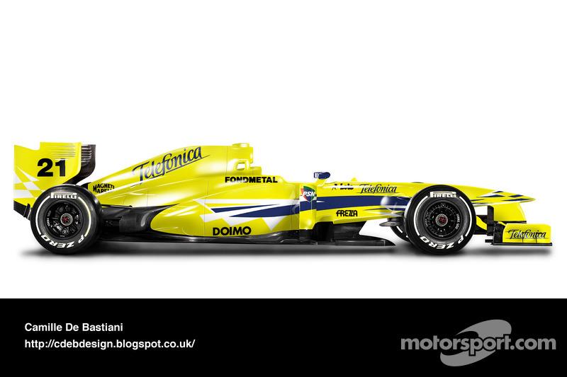 سيارة فورمولا واحد حديثة بألوان ميناردي 2000