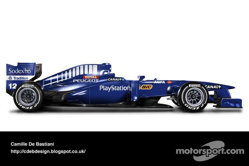 سيارة فورمولا واحد حديثة بألوان بروست 1998