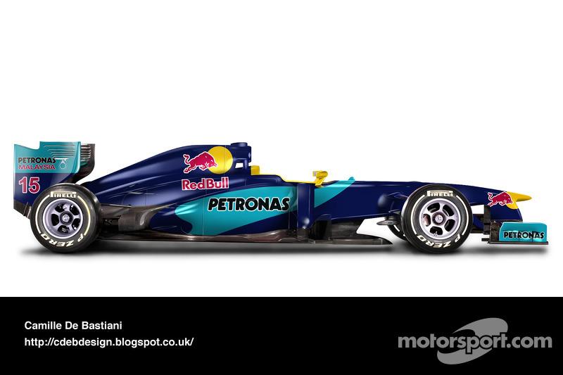سيارة فورمولا واحد حديثة بألوان ساوبر 1998