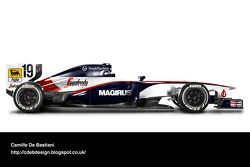 Formel-1-Auto im Retrodesign: Toleman 1984