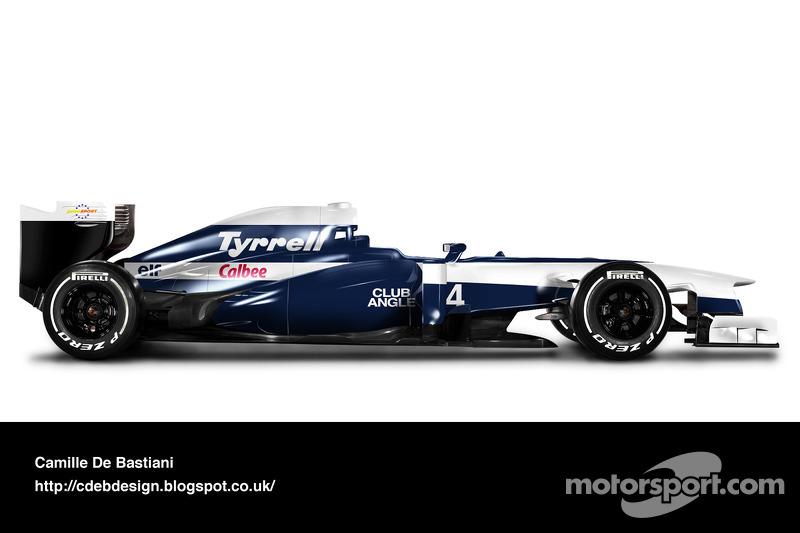 Carro de F1 retrô - Tyrrell 1992