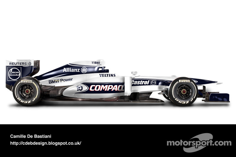 Formel-1-Auto im Retrodesign: Williams 2000