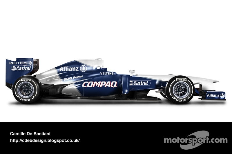 Carro de F1 retrô - Williams 2001