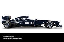 Retro F1 - Williams 2009 (livery voorseizoen)