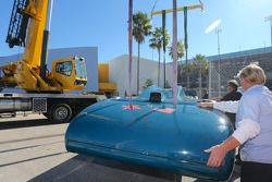 The Bluebird V returns to Daytona after visiting Goodwood Festival of Speed