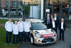 Jonas Andersson, Mads Ostberg, Paul Nagle, Kris Meeke con el Citroën DS3 WRC
