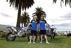 Yamaha sürücüleri Michael Metge, Cyril Despres