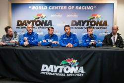 Michael Shank Racing 新闻发布会: Michael Shank, John Pew, Oswaldo Negri, Justin Wilson, A.J. Allmendinger