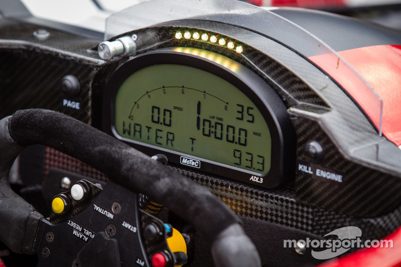 Instrument panel on the #6 Pickett Racing ORECA Nissan at Daytona