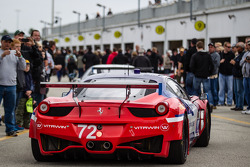 #72 SMP / ESM Racing Ferrari 458 Italia: Maurizio Mediani, Sergey Zlobin, Boris Rotenberg, Mika Salo, Mikhail Aleshin