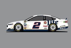 Penske Racing special Miller Lite paint scheme to be driven by Brad Keselowski at the Daytona 500