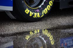 Reflet de roue avec la pluie