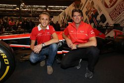 Max Chilton and Graeme Lowdon, head of Marussia F1