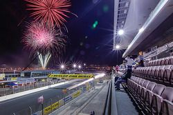Fireworks over the race track