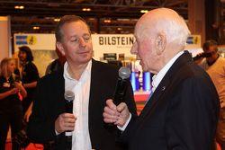 John Surtees y Martin Brundle