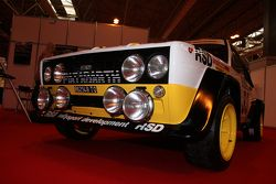 Vintage Fiat rally car