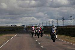 Sürücüler yolda