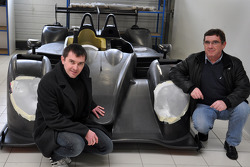 Claude et Julien Schell avec la nouvelle Pegasus Racing Morgan LM P2