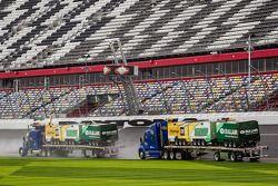 Dryer trucks at work