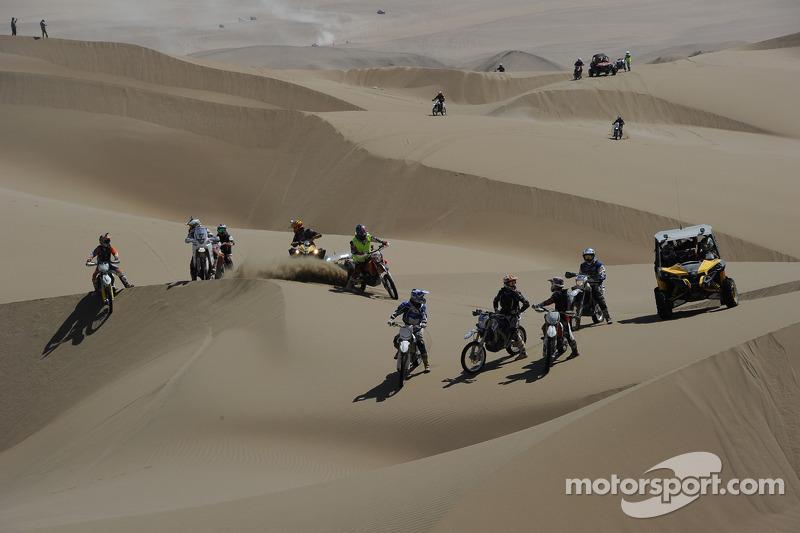 Pilotos nas dunas
