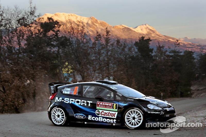 Elfyn Evans y Daniel Barrit, M-Sport Ford Fiesta WRC, Montecarlo 2014: 6º