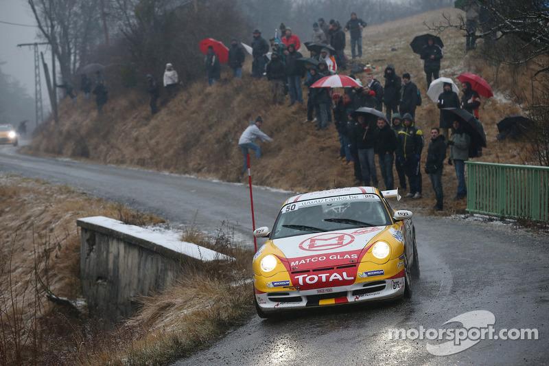marc duez and steve vyncke  porsche 996 a rally di monte